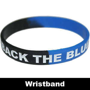 088A: 'BACK THE BLUE' Silica Gel Wristband