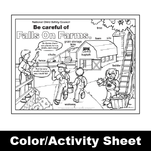 173 falls on farms color activity sheet
