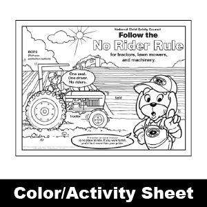 174 no rider rule color activity sheet