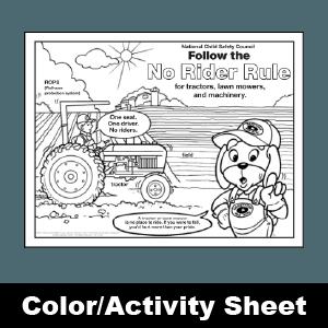 174 No Rider Rule Activity Sheet