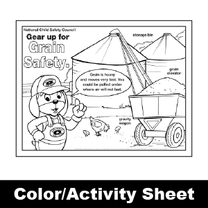 175 grain safety color activity sheet - Color Activity Sheets