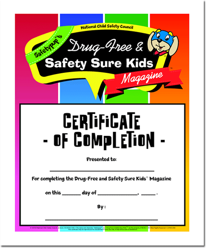 253WC: Certificate of Completion