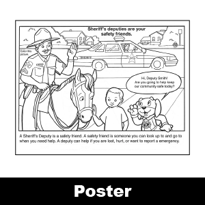 692: Friendly Sheriff Color / Activity Sheet